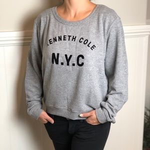 Kenneth Cole Low Hanging Back Sweatshirt Gray - XL